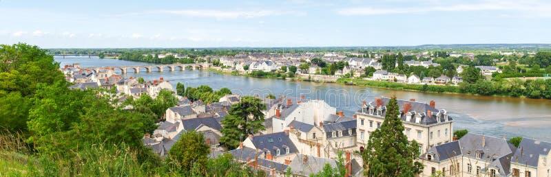 Ville de Saumur fotografía de archivo libre de regalías