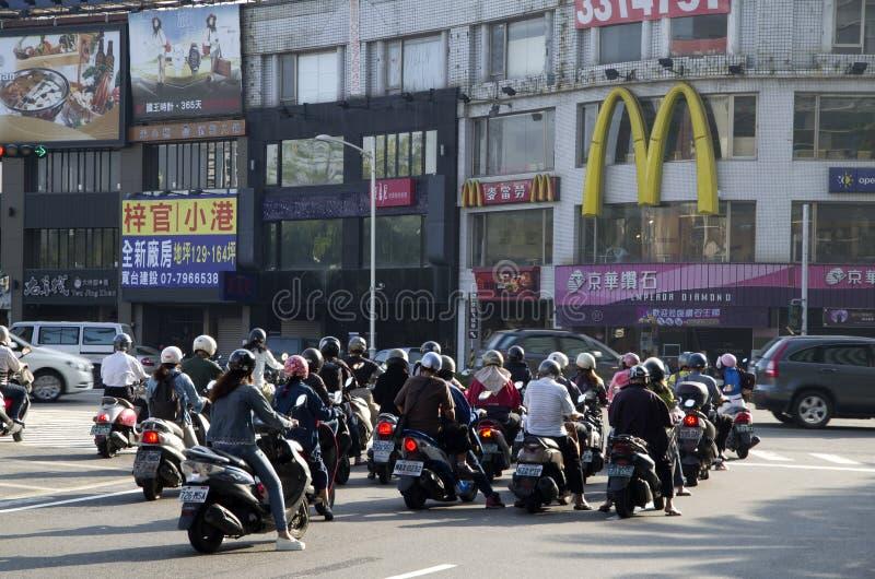 Ville de scooter de Kaosiung Taïwan photographie stock libre de droits