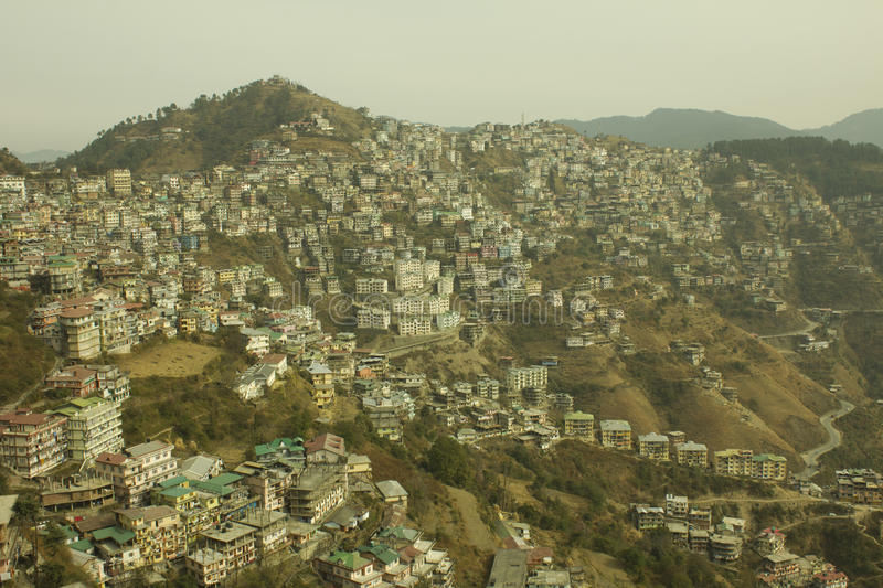 Ville de Shimla photo stock