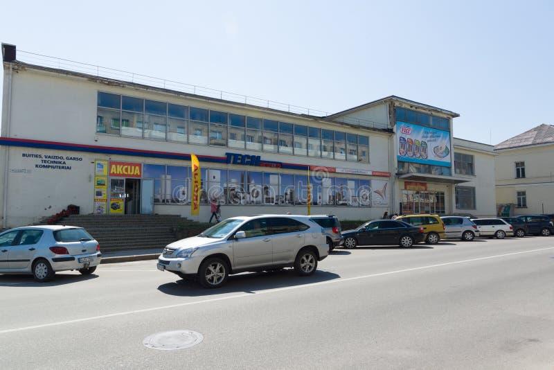 Ville de Siauliai en Lithuanie photographie stock