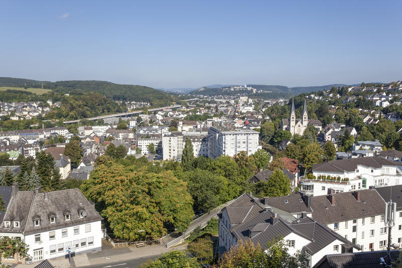 Download Ville de Siegen, Allemagne image stock. Image du allemand - 77153479