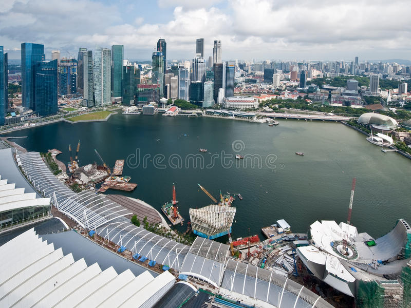 Ville de Singapour photo stock