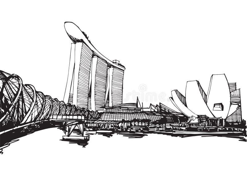 Ville de Singapour illustration libre de droits