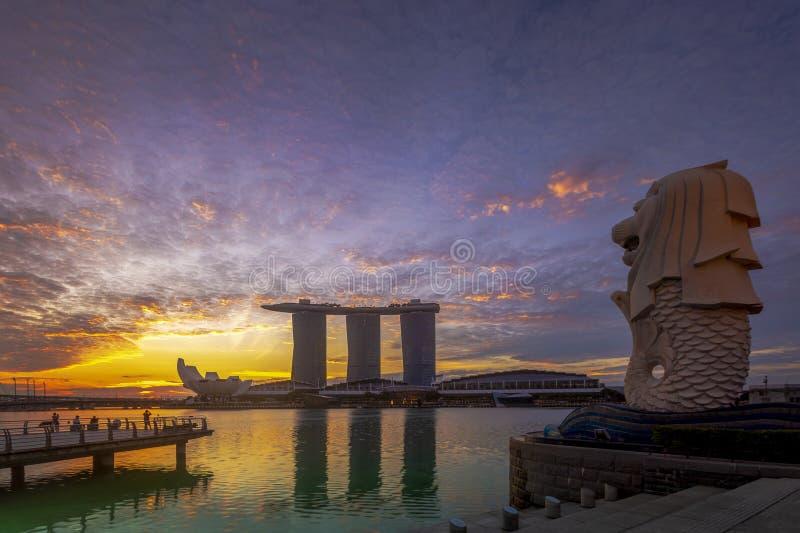 VILLE DE SINGAPOUR, SINGAPOUR : Août 15,2018 : Horizon de Singapour Singa photo libre de droits