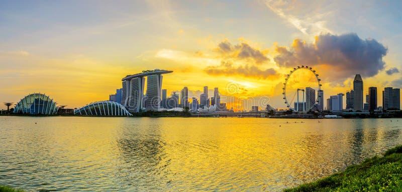 VILLE DE SINGAPOUR, SINGAPOUR : Sept 29,2017 : Horizon de Singapour Singa photo libre de droits