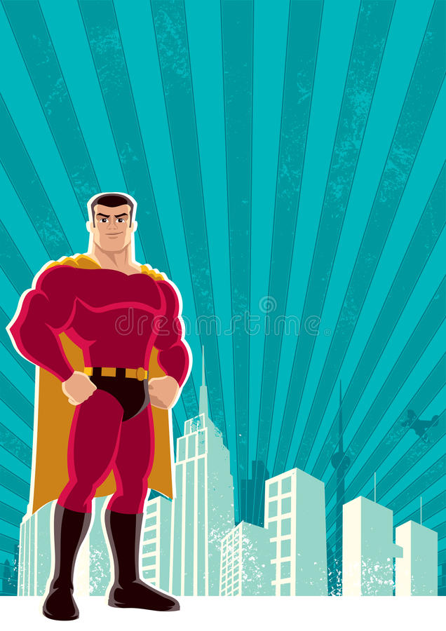 Ville de Superhero illustration libre de droits