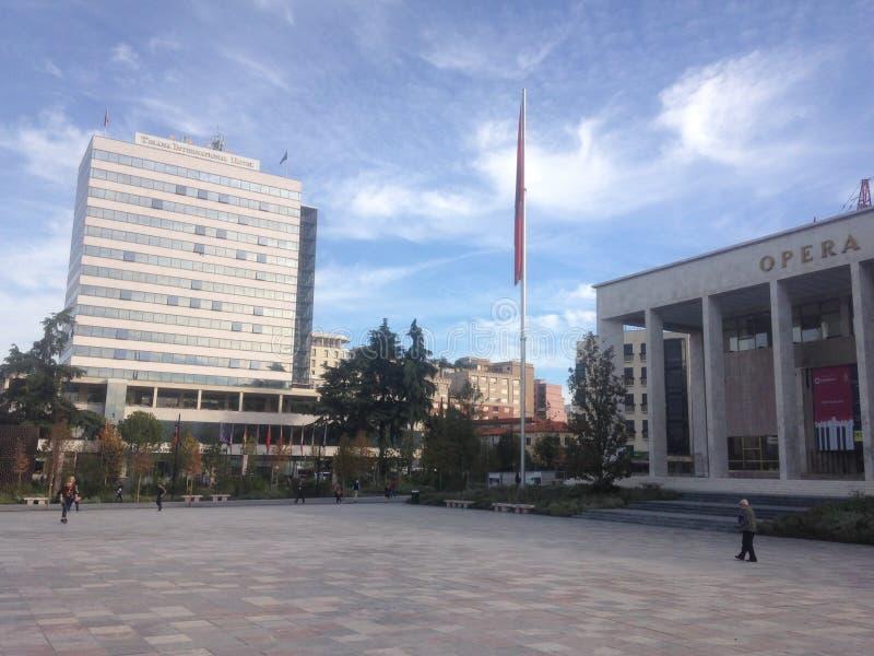 Ville de Tirana image stock