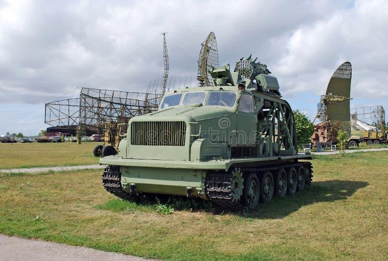 Ville de Togliatti Région de Samara Russie 29 d'août 2015 Musée technique de K G sakharov Objet exposé du fossé BTM-3 de musée images stock