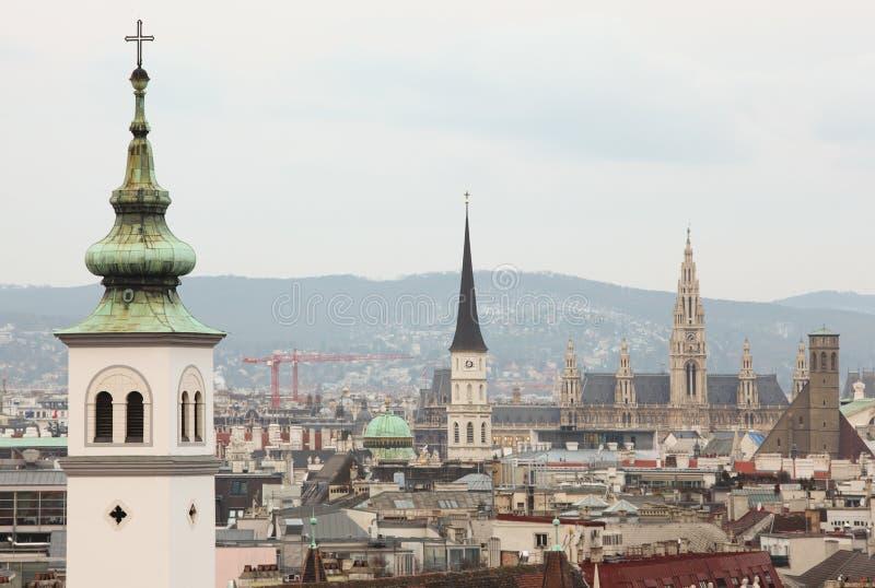 Ville de toit à Vienne, Autriche images libres de droits