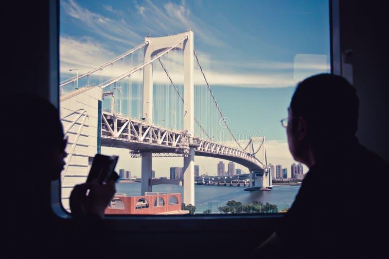 Ville de Tokyo de rivière photos libres de droits