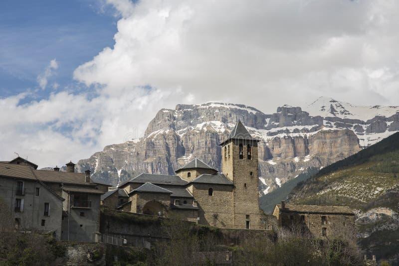 Ville de Torla, d'Ordesa et de Monte Perdido National Park photographie stock libre de droits