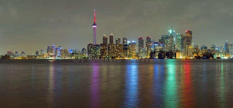 Ville de Toronto la nuit photo libre de droits