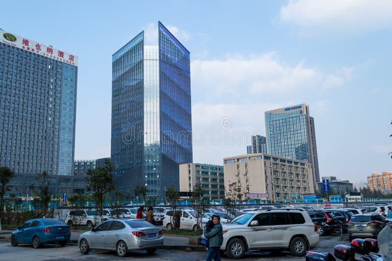 Ville de touristes chinoise, paysage urbain de Guiyang photographie stock libre de droits