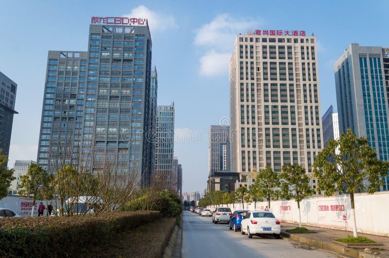 Ville de touristes chinoise, paysage urbain moderne de Guiyang image stock