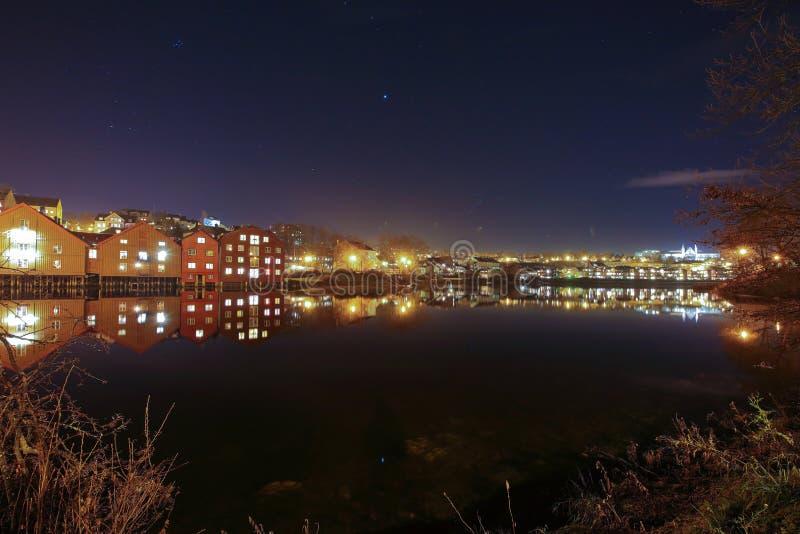 Ville de Trondheim en Norv?ge image libre de droits