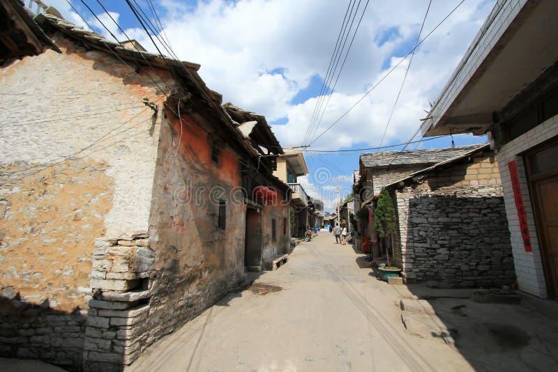 Ville de tunbao de Tianlong dans la porcelaine images libres de droits