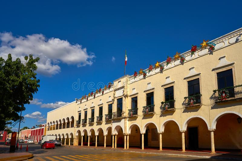 Ville de Valladolid de Yucatan Mexique images stock