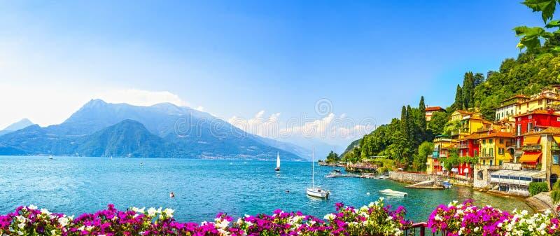 Ville de Varenna, paysage du district de Como Lake Italie, Europe photographie stock libre de droits