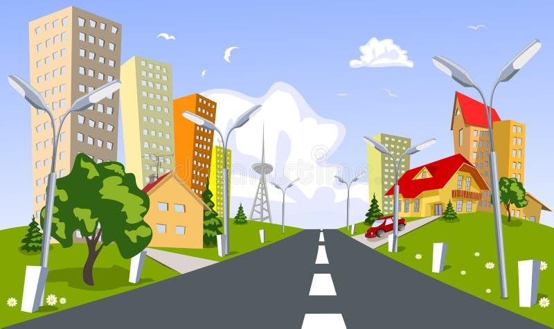 Ville de vecteur - été illustration de vecteur