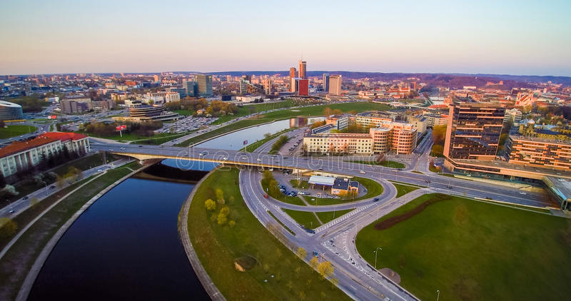 Ville de Vilnius d'en haut images libres de droits