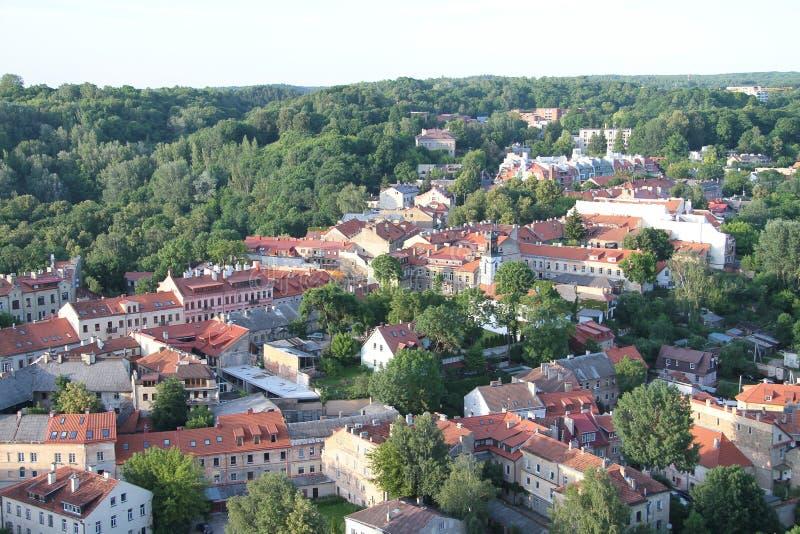 Ville de Vilnius et de x28 ; Lithuania& x29 ; , vue aérienne photographie stock
