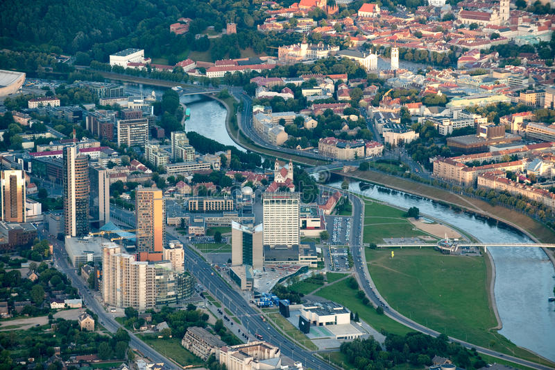 Ville de Vilnius, Lithuanie photo libre de droits