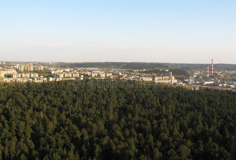 Ville de Vilnius (Lithuanie) photos stock