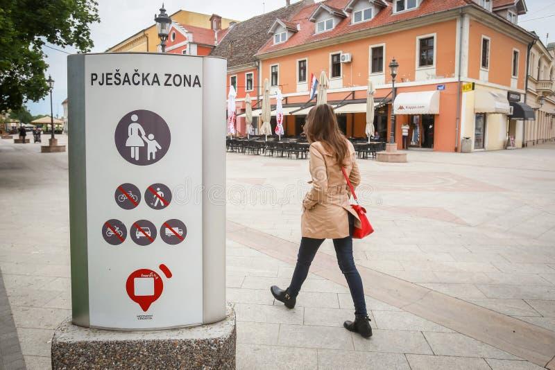 Ville de Vinkovci en Croatie image stock
