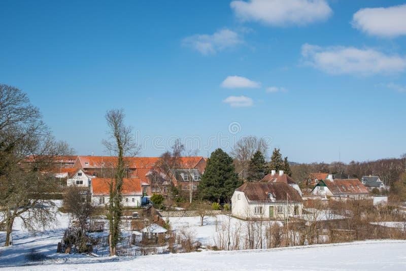 Ville de Vordingborg au Danemark image libre de droits