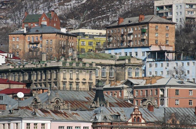 Ville de vue de Vladivostok image libre de droits