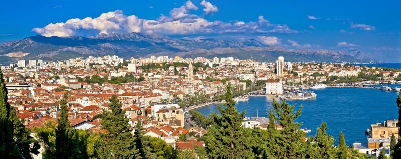 Ville de vue panoramique de fente photos libres de droits