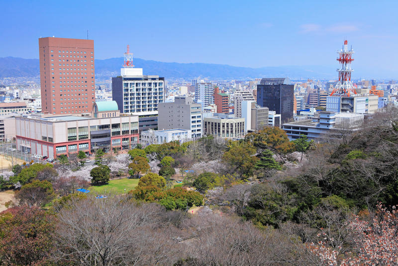 Ville de Wakayama, Japon images libres de droits