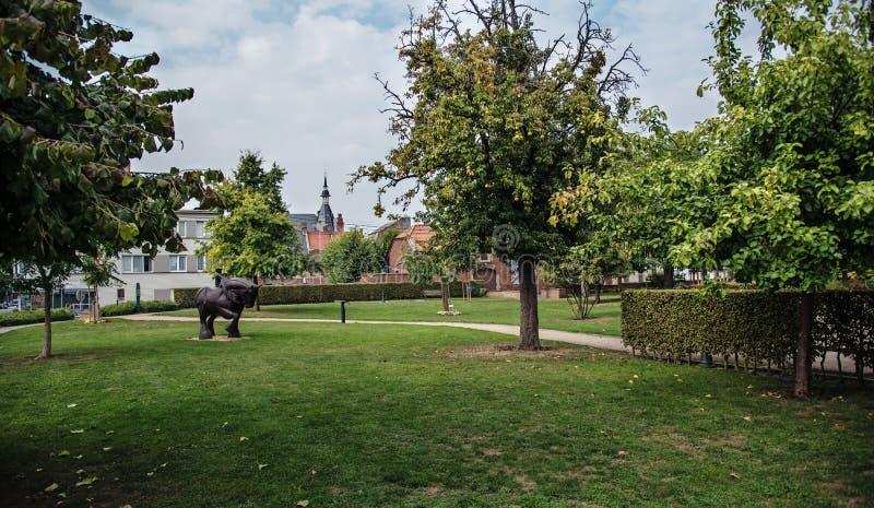 Ville de Waremme en Belgique photo libre de droits