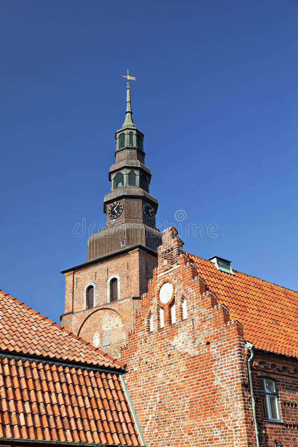 Ville de Ystad en Suède du sud photo stock