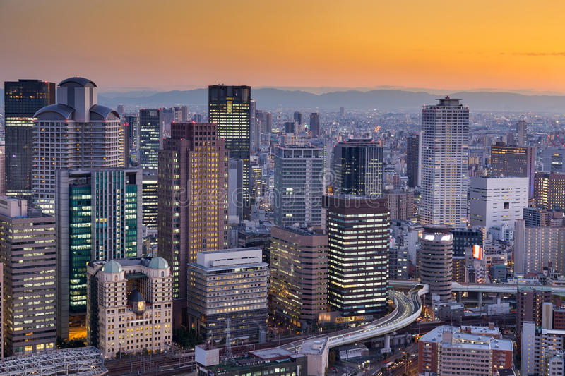Download Ville Des Affaires Centrales D'Osaka Du Centre Photo stock - Image du nuit, landmark: 87707354