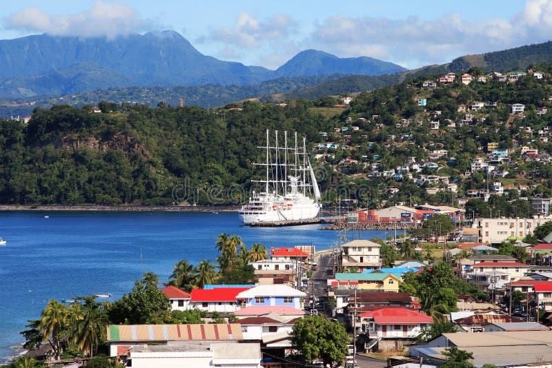 Ville des Caraïbes photos stock
