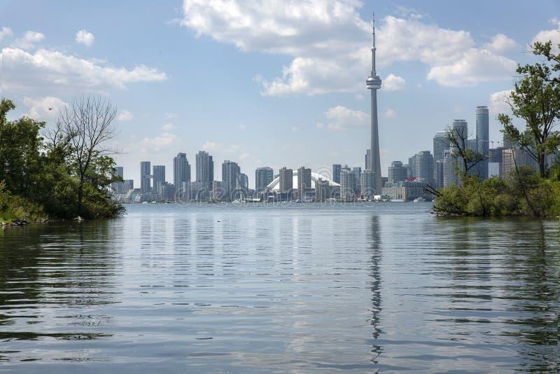 Ville des icônes de Toronto et de vue de lac photo libre de droits