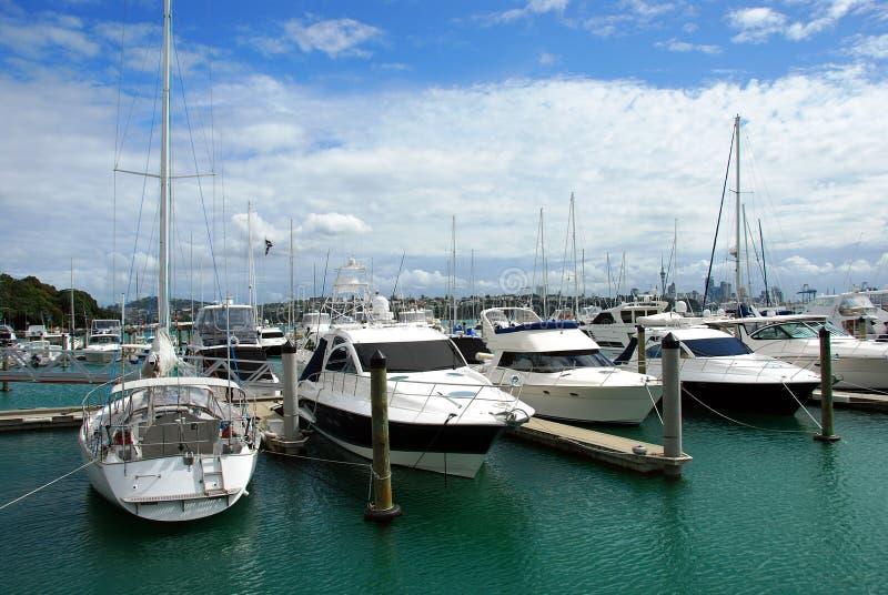 Ville des voiles, Auckland image libre de droits