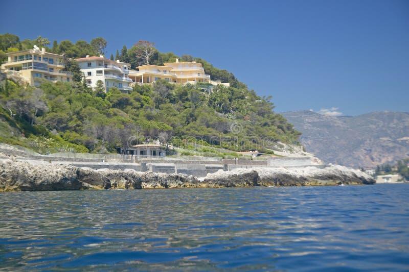 Ville di Hillside, san Jean Cap Ferrat, Riviera francese, Francia fotografie stock libere da diritti