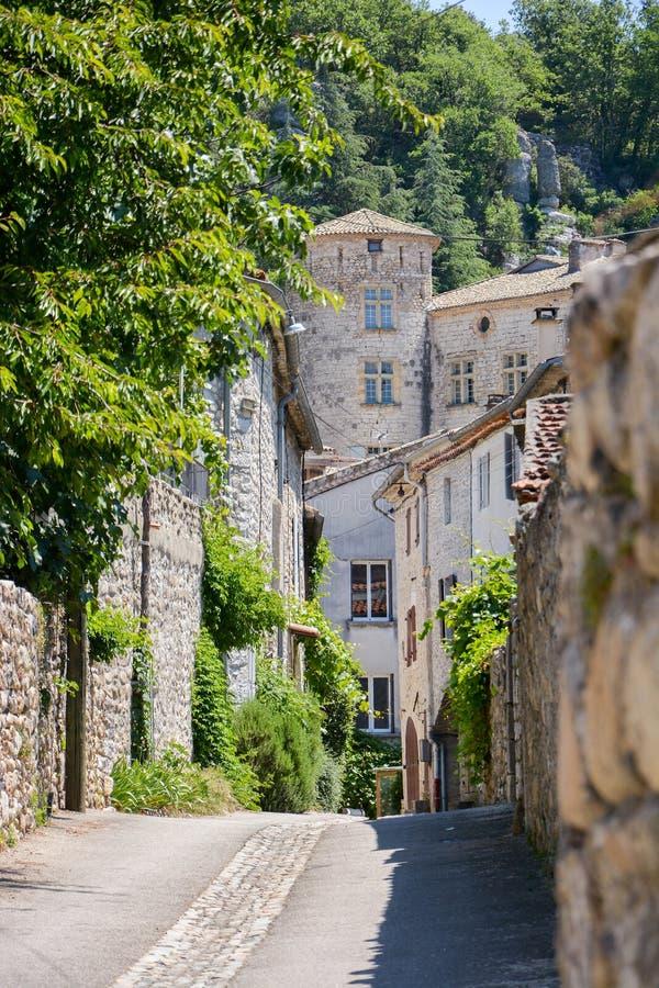Ville du ¼ e de Vogà dans Ardèche, France photo stock