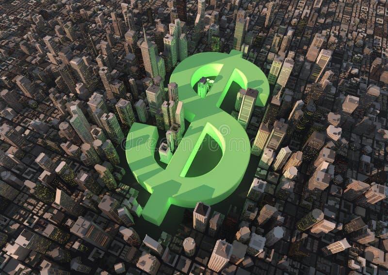 Ville du dollar illustration stock