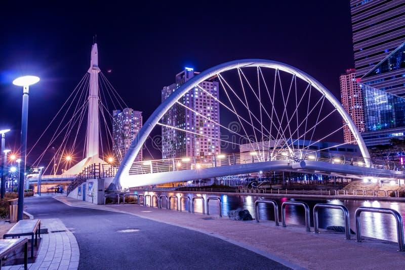 Ville du futur Songdo photo libre de droits