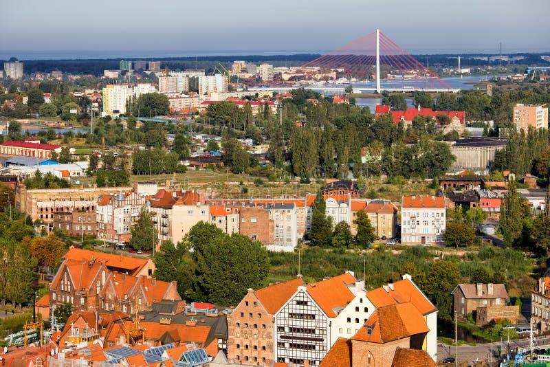 Ville du paysage urbain de Danzig en Pologne photos stock
