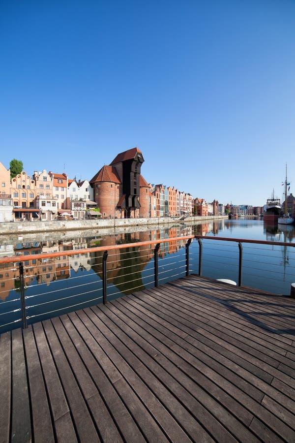 Ville du paysage urbain de Danzig en Pologne photographie stock