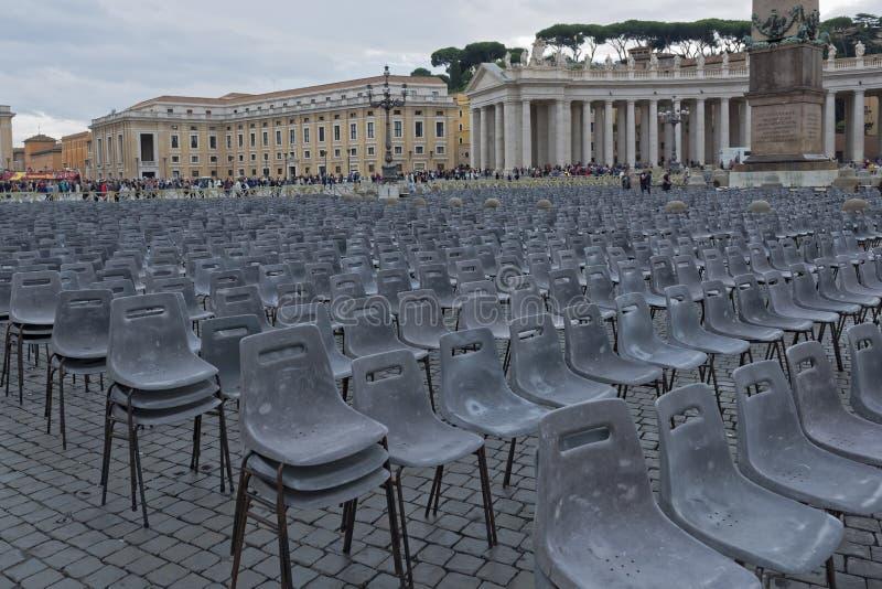 Ville du Vatican, place du ` s de St Peter image stock