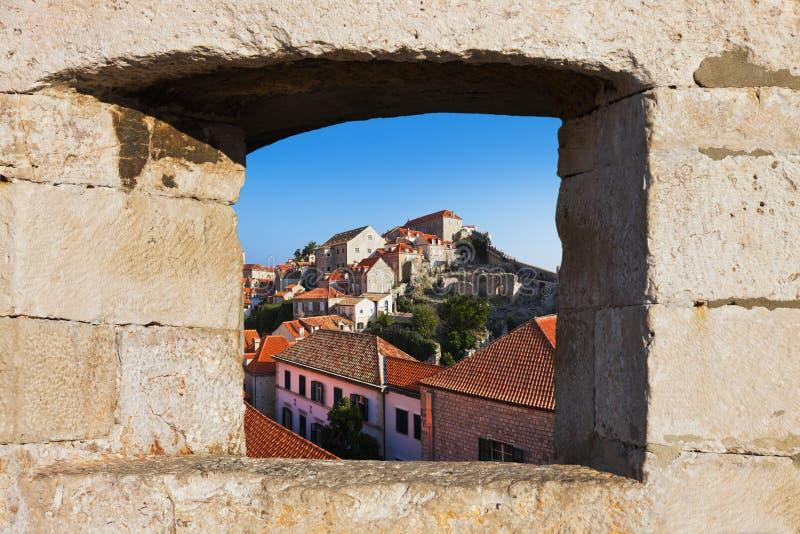 Ville Dubrovnik en Croatie image libre de droits