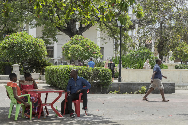 Ville en pierre, Zanzibar photos stock