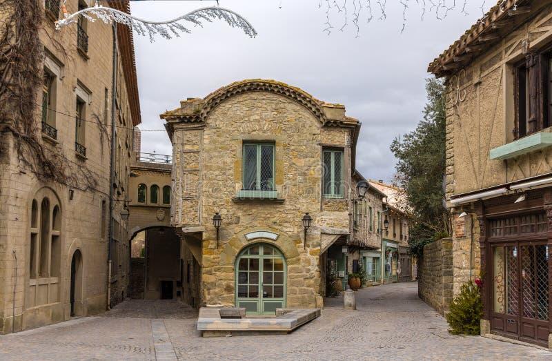 Ville enrichie par Carcassonne intérieure, France photo stock