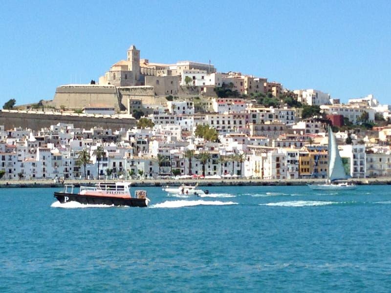 Ville Espagne d'Ibiza photo stock