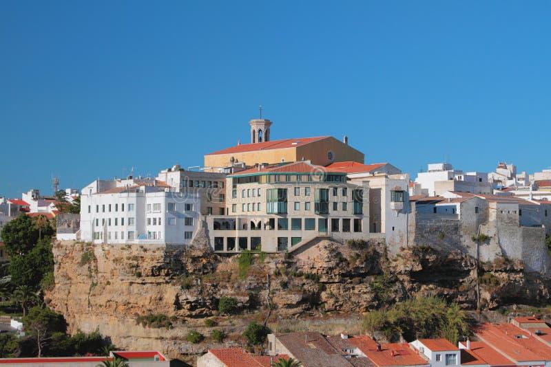 Ville et église Mahon, Minorca, Espagne photo stock